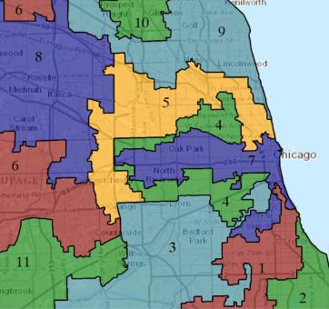 Chicago gerrymandered